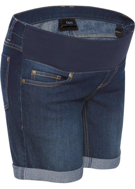choisir véritable moins cher la qualité d'abord Short en jean de grossesse avec bandeau taille basse
