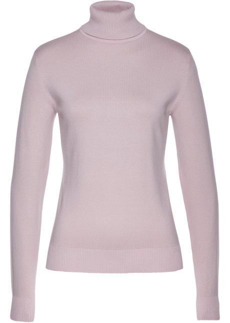 Pull col roulé rose mat - Femme - bpc selection - bonprix.fr 2cb87d9ebf60