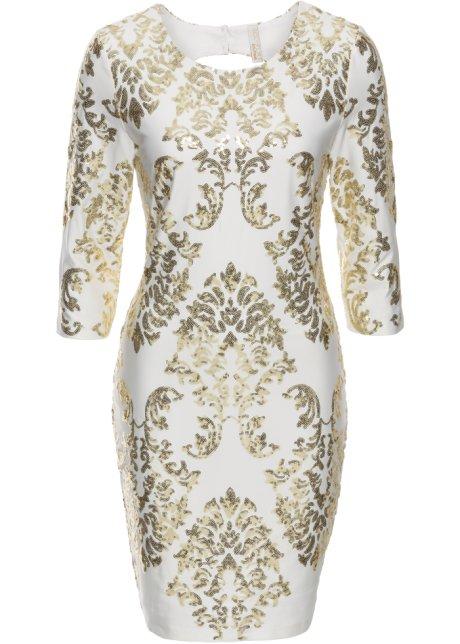 bon prix robe à paillette blanche