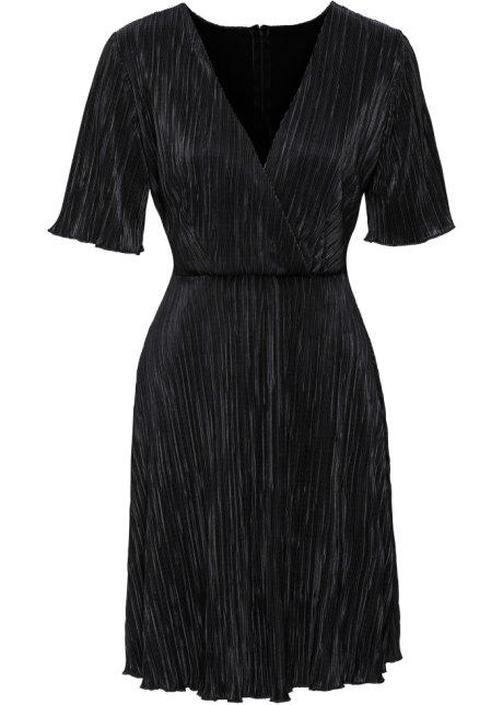 Robe Robe Plissée Noir Noir Robe Noir Femme Femme Plissée Robe Plissée Femme OukZXPi