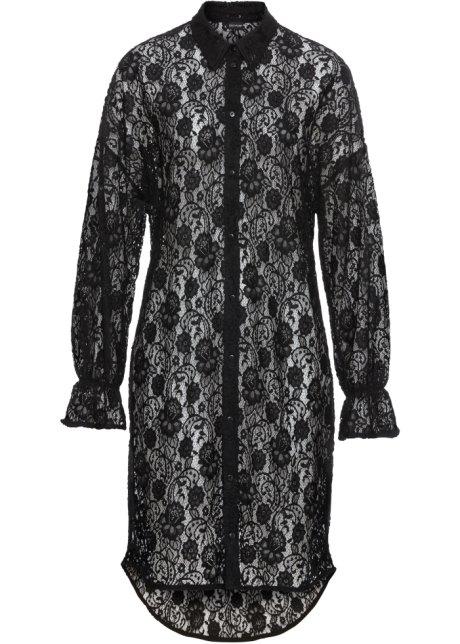 fb9dd75e53b Robe-chemisier en dentelle noir - BODYFLIRT acheter online - bonprix.fr