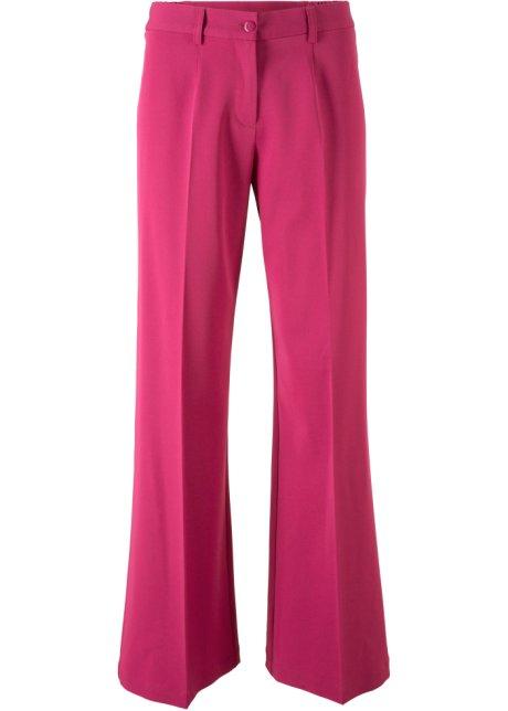 0ad1ea563b6ca Pantalon extensible bootcut et taille haute ajustable - rouge baie