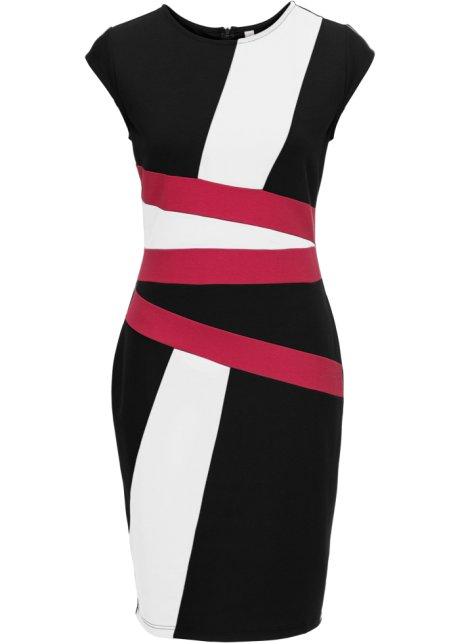 Robe à imprimé noir blanc prune - Femme - bonprix.fr 532f0a98edc8