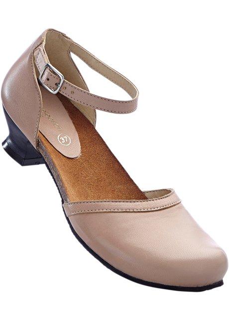 bpc selection Bonprix - Escarpins en cuir confortables noir pour femme