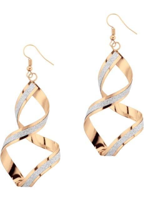 nouveaux prix plus bas livraison gratuite belle qualité Boucles d'oreilles torsadées avec brillants