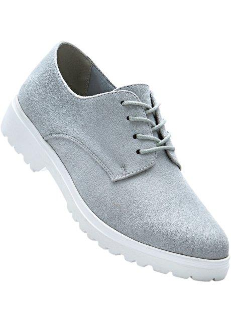 bpc bonprix collection Bonprix - Chaussures à lacets gris pour femme