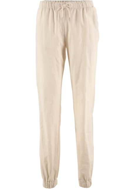 8a8275820f711 Pantalon en lin beige galet - Femme - bpc bonprix collection ...