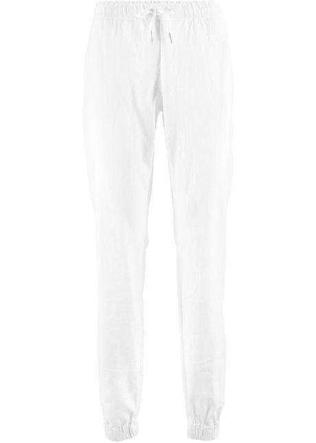 15450831c2201 Pantalon en lin blanc - Femme - bpc bonprix collection - bonprix.fr
