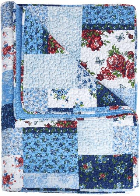 Couvre lit Patchwork bleu   Maison   bonprix.fr
