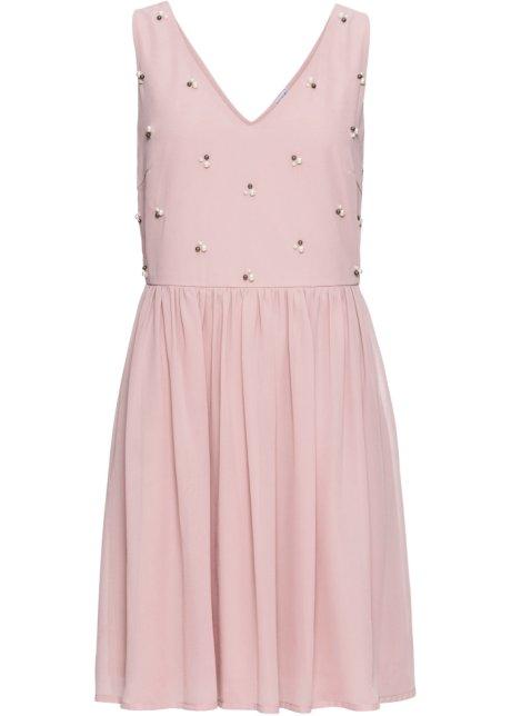 b3cfd0c3a1f Robe de soirée avec perles appliquées bois de rose - BODYFLIRT ...