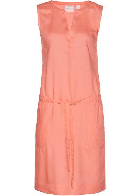 52197e5a8352 Robe avec ceinture à nouer rose saumon - bpc selection - bonprix.fr