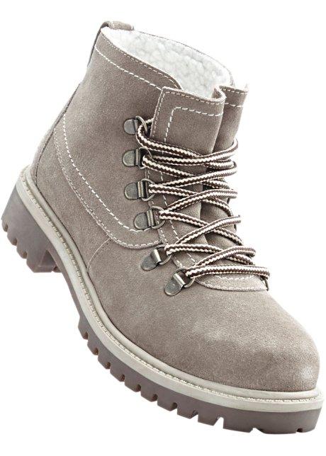 Boots en cuir taupe - Femme - bpc bonprix collection - bonprix.fr 2ab072f212a3