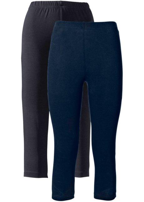 Lot de 2 leggings corsaire extensibles bleu foncé + noir - bpc ... 9892f8520c6