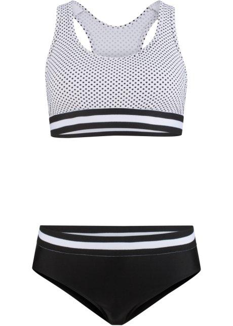 bikini brassière (ens. 2 pces.) noir/blanc - femme - bpc bonprix