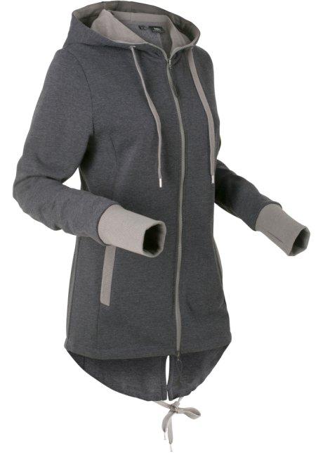 noir Femme longues manches sweat Veste shirt cw4qAUv