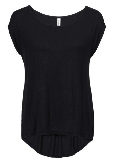 T-shirt avec coupe plus longue derrière que devant - noir 7258c7431f97