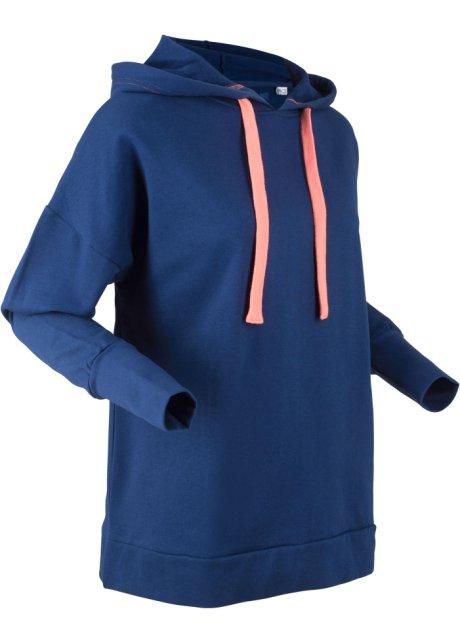 Sweat shirt coton à capuche oversize, manches longues, designed by Maite Kelly