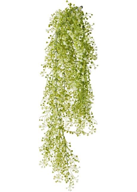 Plante Artificielle A Petites Fleurs Vert Blanc Bpc Living