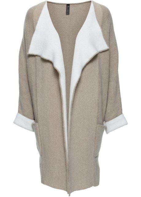 Manteau beige blanc femme
