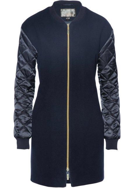 3a9e84f23a903 Veste longue style blouson bleu foncé - bpc selection acheter online ...