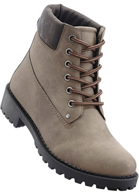Bonprix Bpc Taupe À Lacets Femme Collection Bottines qxavXR6w7