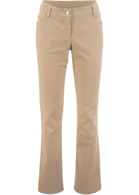 190a36efdd18e Pantalon en coton extensible bootcut new beige - bpc bonprix ...