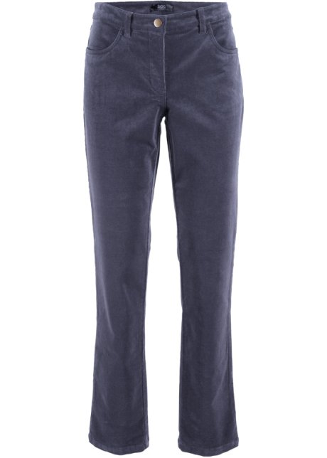 3aefa10233dfa Pantalon extensible en velours côtelé myrtille - Femme - bpc bonprix ...