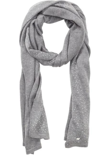 Écharpe à teneur cachemire   strass gris chiné - Femme - bonprix.fr 7e092fe1c6c