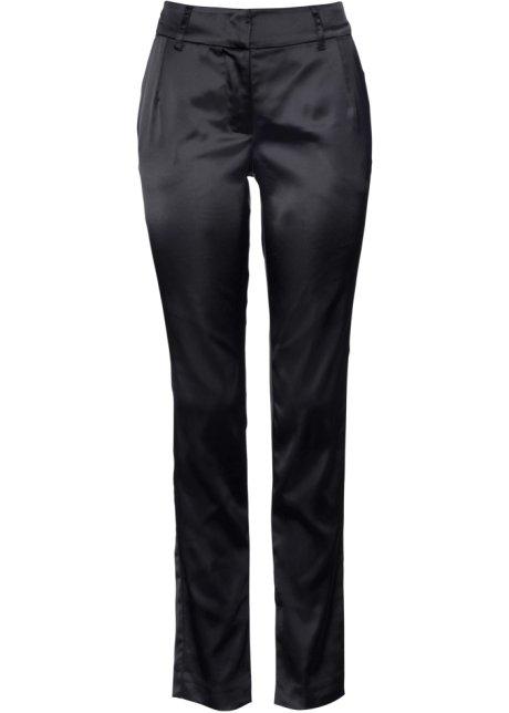 98aaeb61b3b13 Pantalon satin avec fente noir - bpc selection premium - bonprix.fr