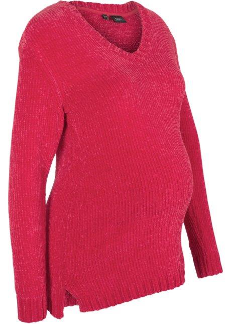 3aba862acef78 Pull de grossesse en maille chenille rouge foncé - Femme - bonprix.fr