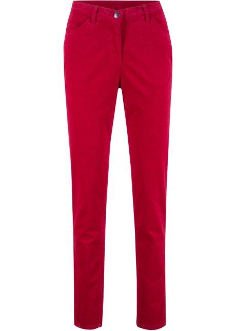 7fc3fc2f2b543 Pantalon velours côtelé rouge piment - bpc bonprix collection ...