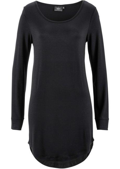 T-shirt long, manches longues noir - Femme - bpc bonprix collection ... 6a6ebe72a14
