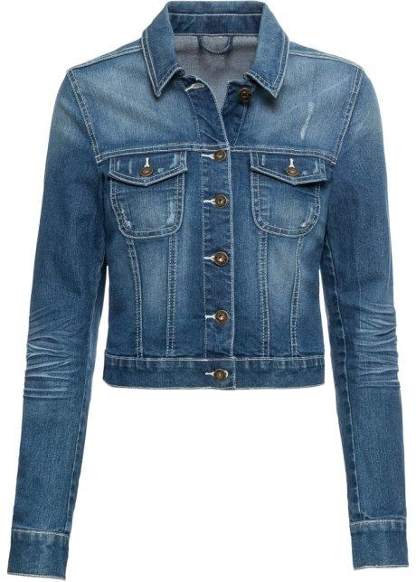 Veste en jean à empiècement dentelle bleu stone - RAINBOW commande ... 7bd1b59e27b9