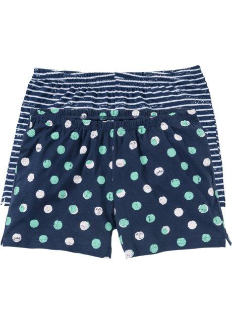 7f2028b8b2f9e Lot de 2 shorts de pyjama bleu foncé à pois rayé - bpc bonprix ...