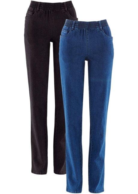 2 Paires de bon marche élastique Pantalon Entrejambe 27 avec poches Bleu