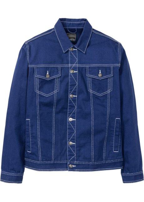 veste en jean bleu marine homme