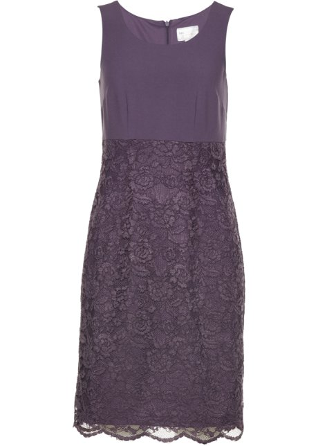 a0cd9155b78 Robe fourreau à dentelle violet mat - bpc selection premium acheter ...