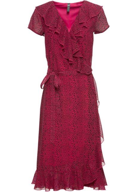 Robe Portefeuille Rouge Cerise Imprime Leopard Rainbow Commande Online Bonprix Fr