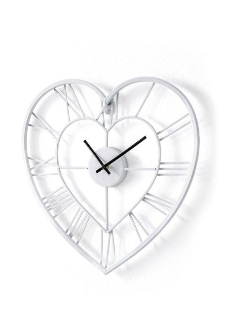 9dfbe0fe812 Horloge murale Cœur blanc - bpc living commande online - bonprix.fr