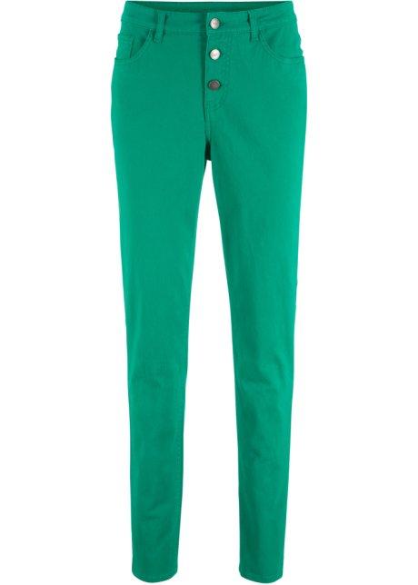 Extra Long Tendance Pantalon pantalon look Pantalon stretch vert foncé