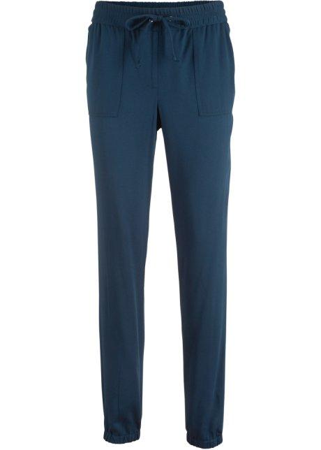 9deac2a4395f5 Pantalon fluide en viscose bleu foncé - Femme - bpc bonprix ...
