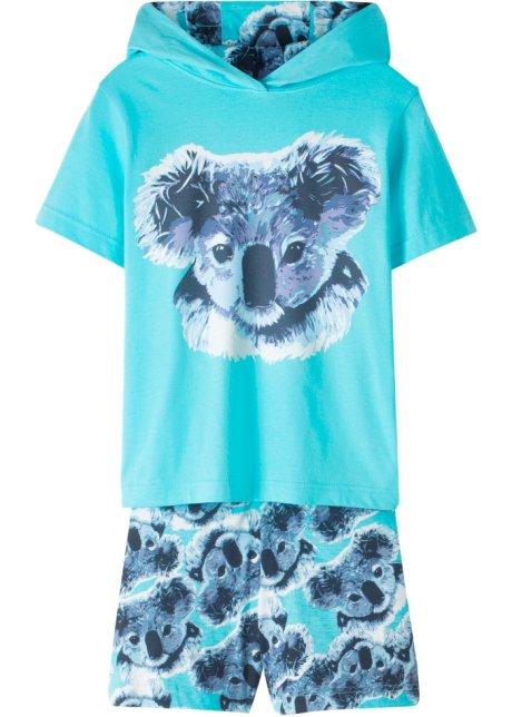 9694e472c48fd T-shirt à capuche + jupe-short (Ens. 2 pces.) bleu ciel - Enfant ...