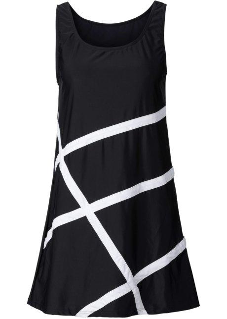 Robe De Plage Matiere Maillot De Bain Noir Blanc Femme Bpc Selection Bonprix Fr