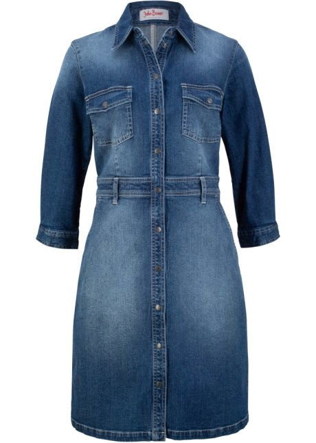 Robe En Jean Extensible Manches 3 4 Bleu John Baner Jeanswear Acheter Online Bonprix Fr