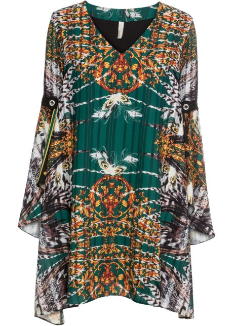 Robe En Voile De Chiffon Vert Fonce Imprime Bodyflirt Boutique Commande Online Bonprix Fr