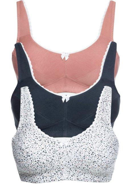 M/&s Bleu Soutien-gorge rembourré Full Cup Riche Coton Soutien-gorge baleiné rouge rayures blanches 0397