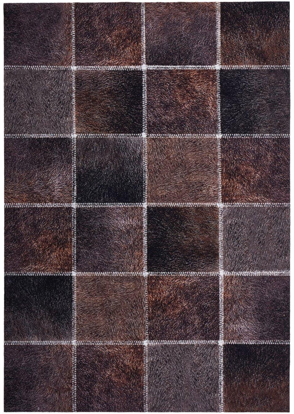 tapis imitation peau de b te marron imprim bpc living. Black Bedroom Furniture Sets. Home Design Ideas