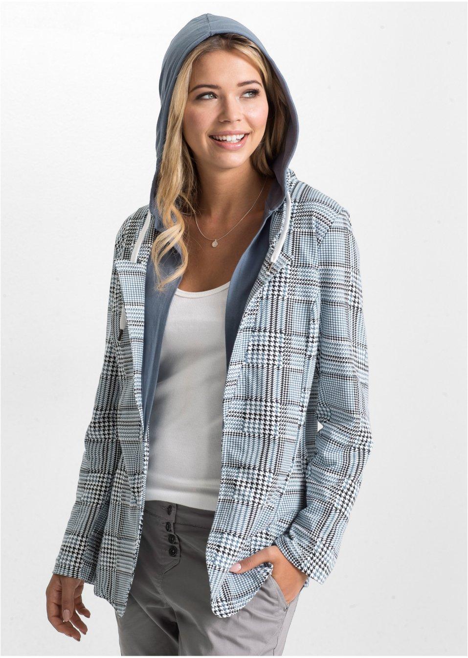 Blazer bleu fumée indigo à carreaux - Femme - RAINBOW - bonprix.fr a476d538130f