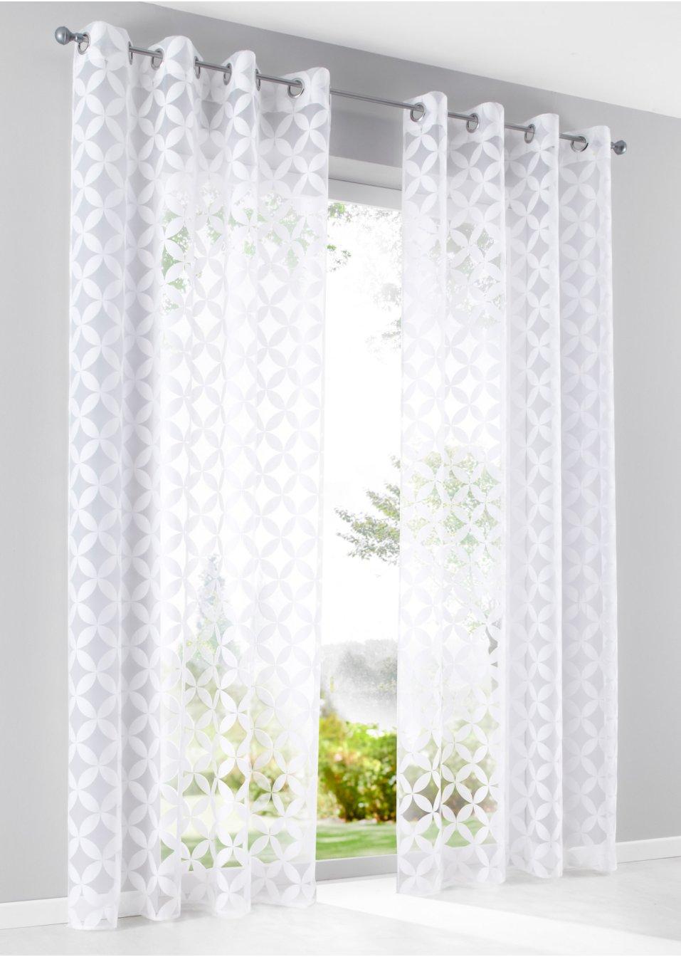voilage samy 1 pce blanc bpc living commande online. Black Bedroom Furniture Sets. Home Design Ideas