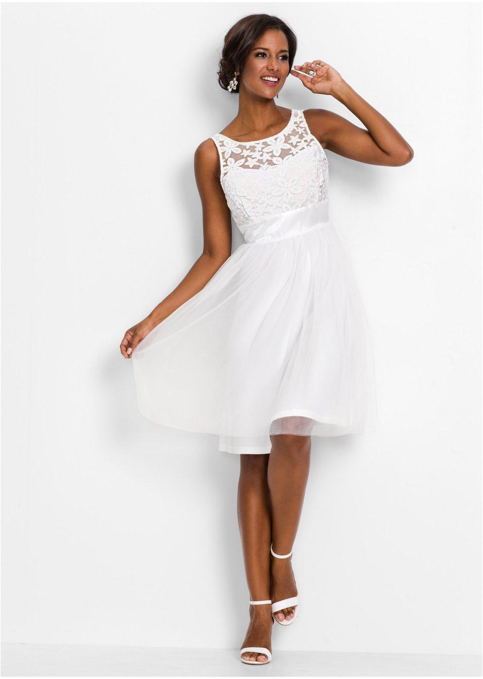 Robe de soirée blanc - Femme - bonprix.fr